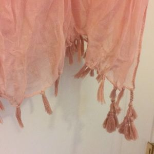 Accessories - 43 x 70 rose gold shawl/scarf/pareo